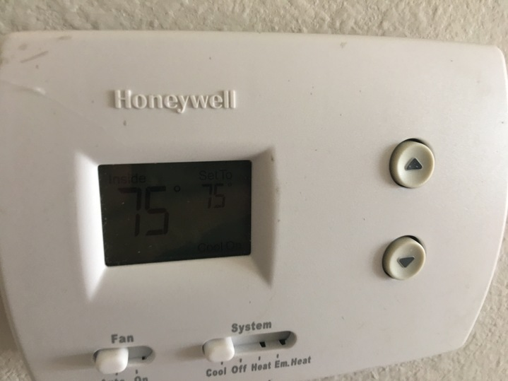 old ac thermostat lower floor not on nest