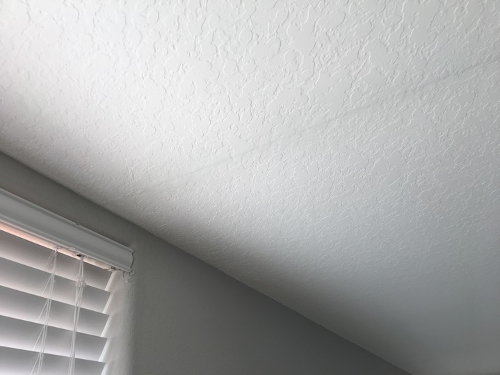 upper level ceiling repair noted